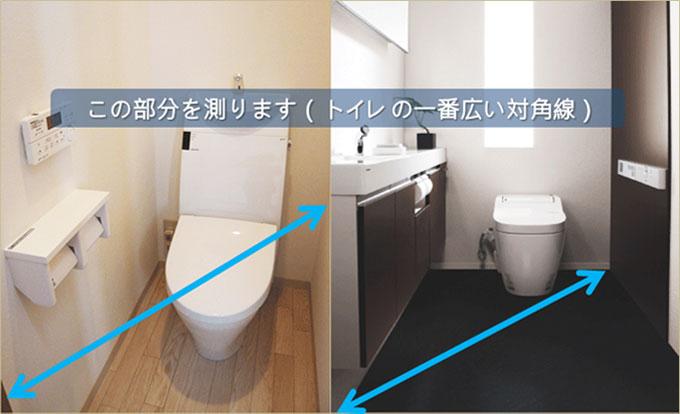 トイレサイズの測り方